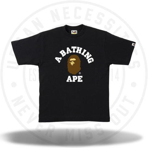 Bape College Tee Black-Urban Necessities