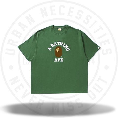 BAPE College Tee Tee Green-Urban Necessities