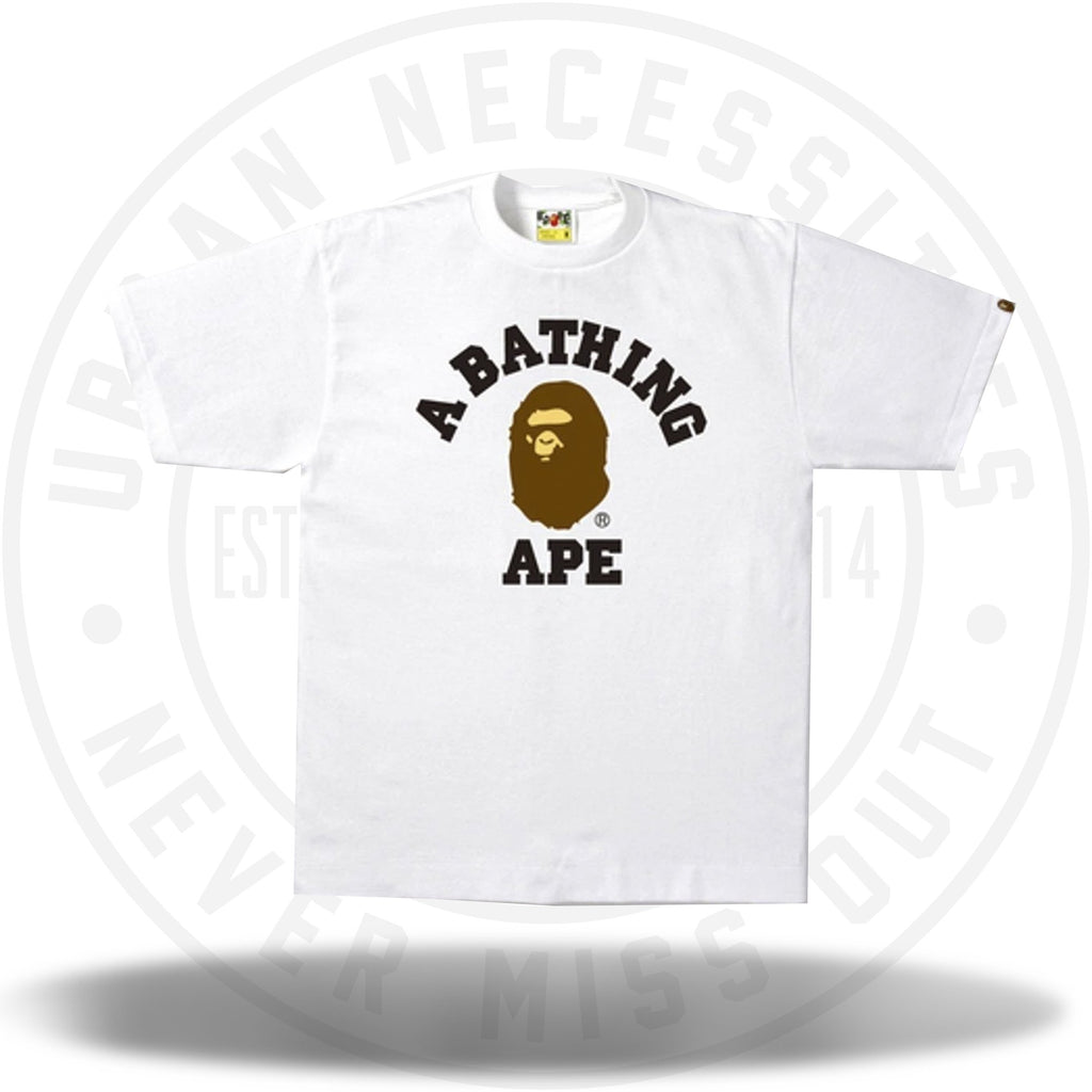 Bape College Tee White-Urban Necessities