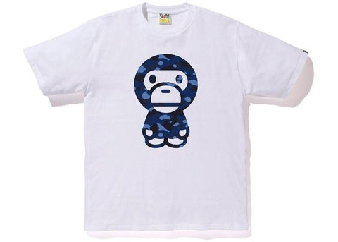 BAPE Color Camo Baby Milo Tee White/Blue-Urban Necessities