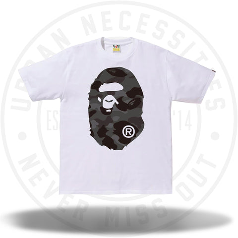 BAPE Color Camo Big Ape Head Tee White/Black-Urban Necessities