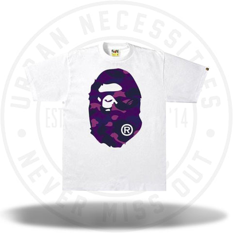 BAPE Color Camo Big Ape Head Tee White/Purple-Urban Necessities