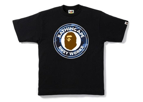 BAPE Color Camo Busy Works Tee Black/Blue-Urban Necessities