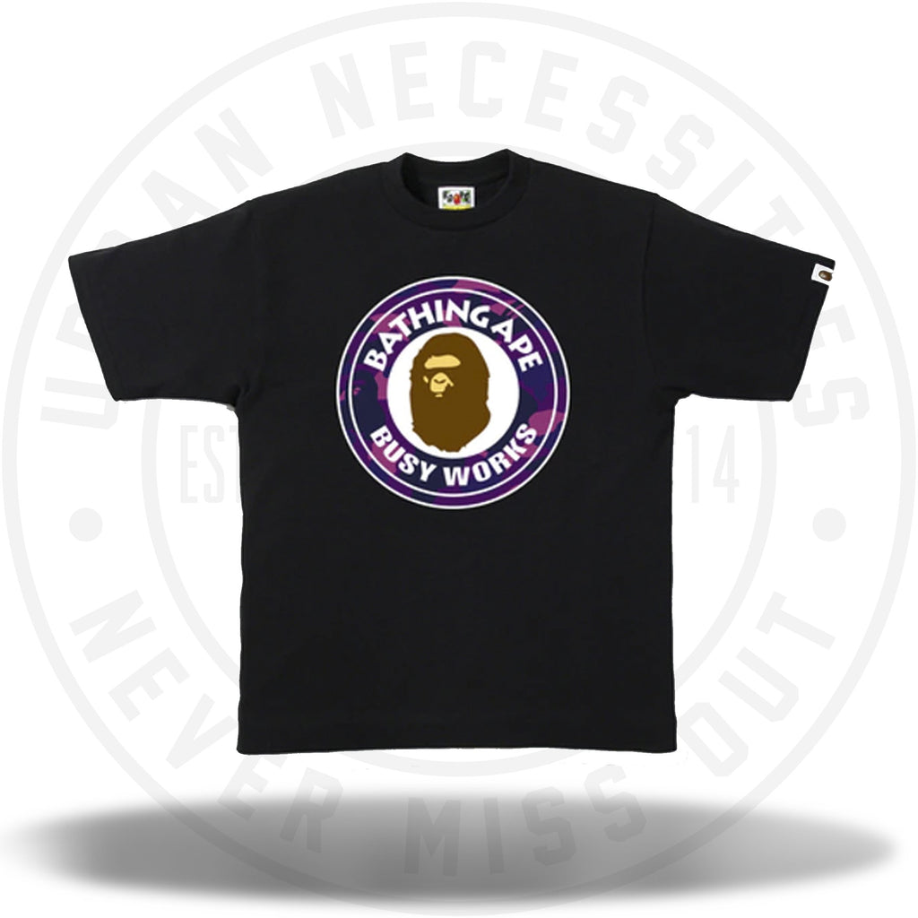 BAPE Color Camo Busy Works Tee Black/Purple-Urban Necessities