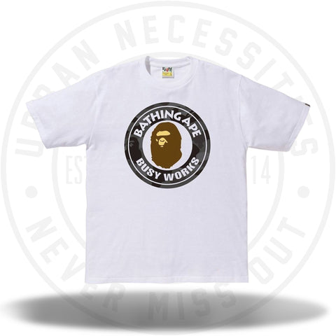 Bape Color Camo Busy Works Tee White/Black-Urban Necessities
