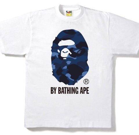 Bape Color Camo By Bathing Ape Tee White/Blue-Urban Necessities