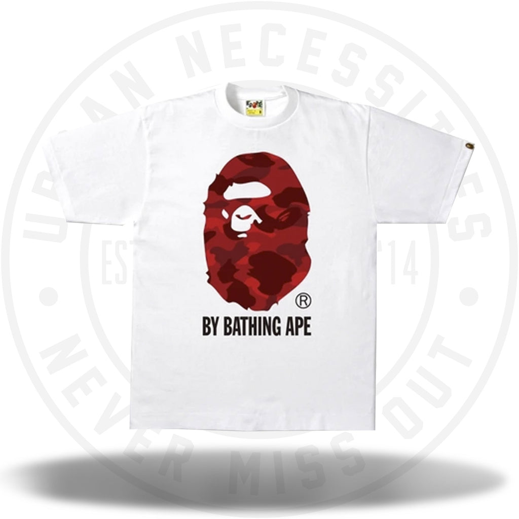 Bape Color Camo By Bathing Ape Tee White/Red-Urban Necessities