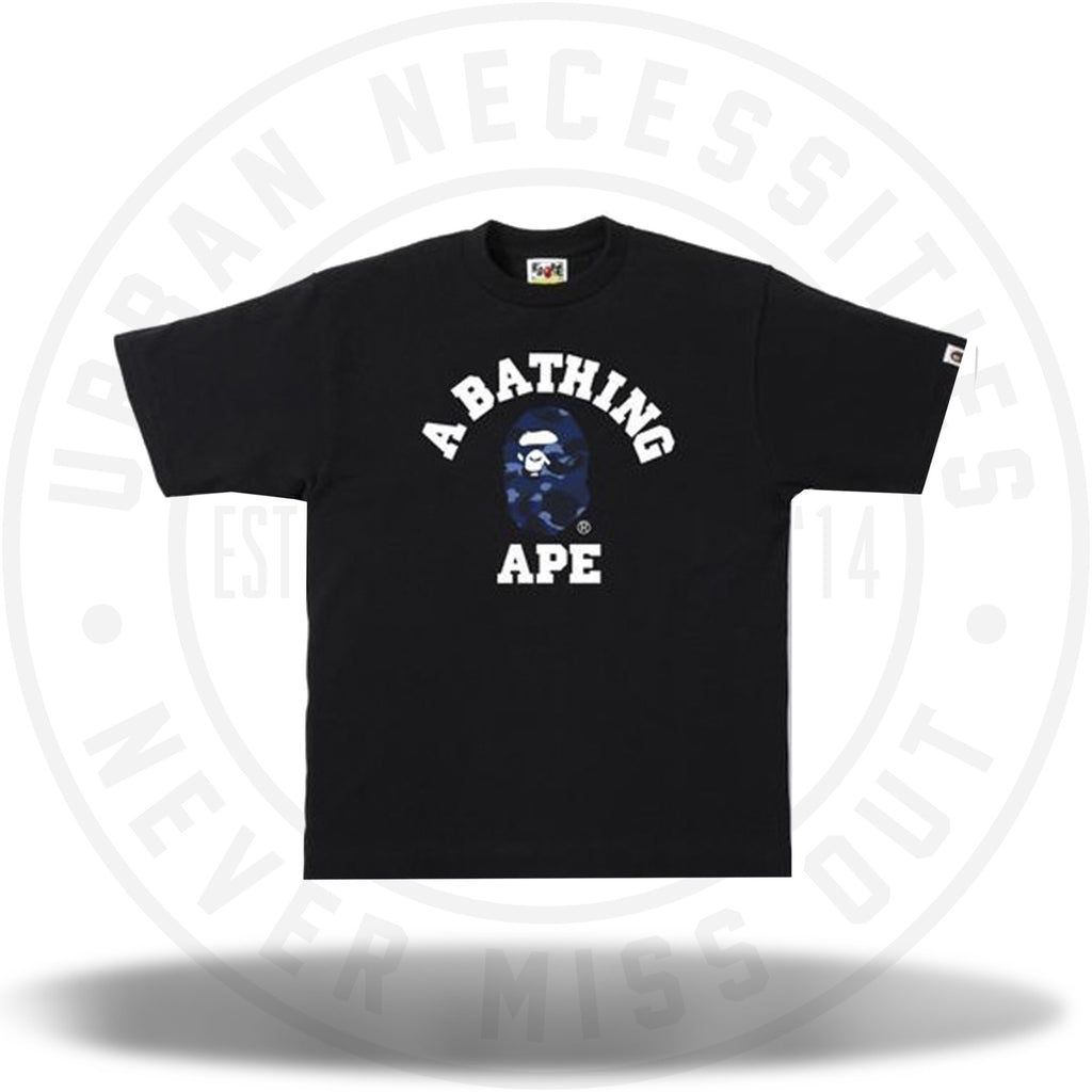 BAPE Color Camo College Tee Black/Navy-Urban Necessities