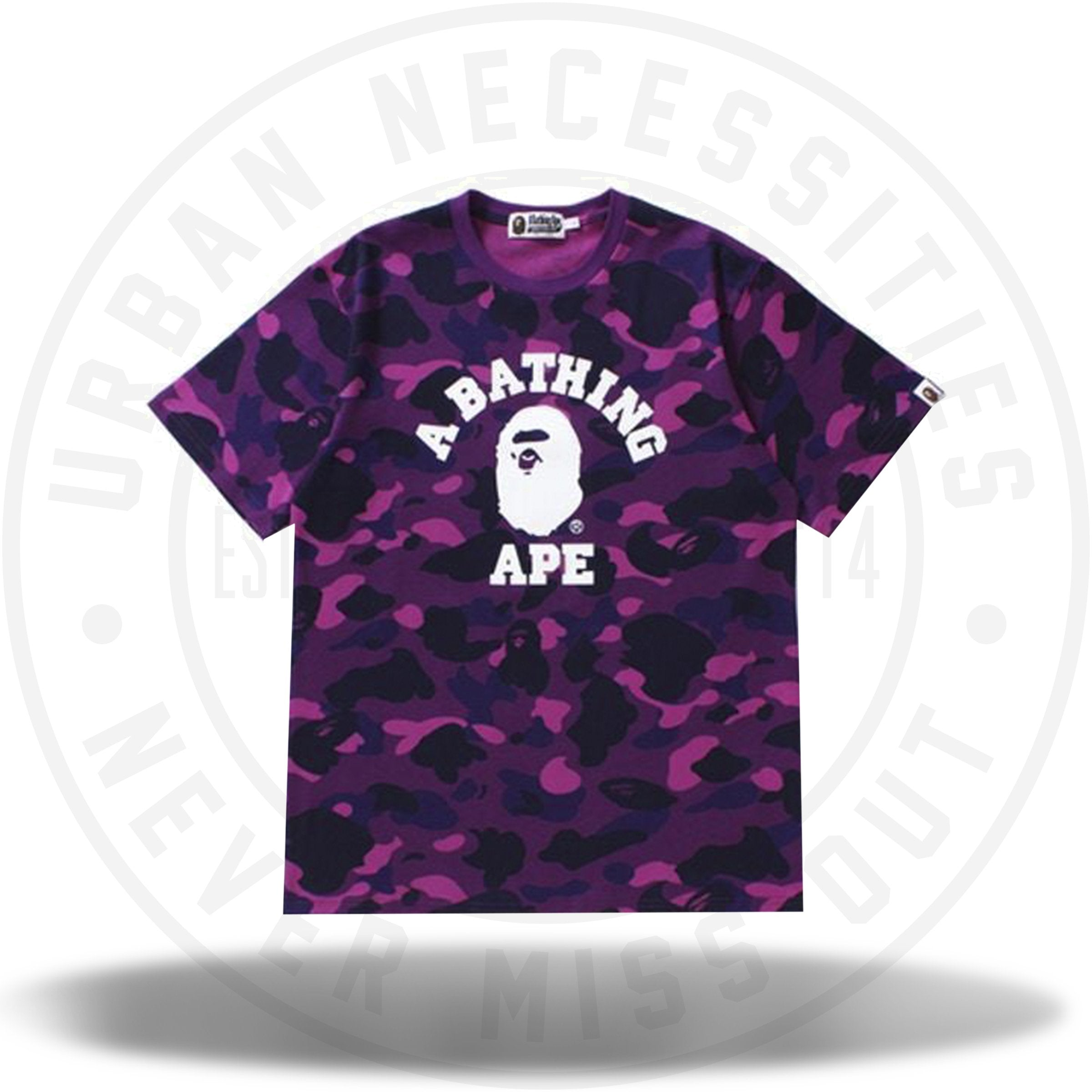 BAPE Color Camo College Tee Purple