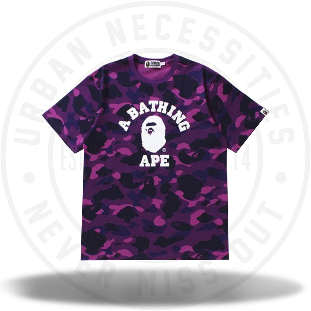 BAPE Color Camo College Tee Purple-Urban Necessities