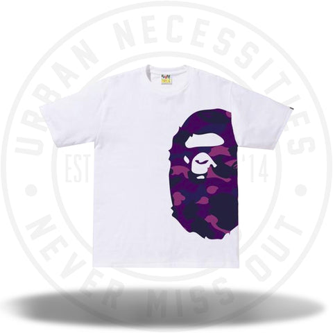 2524c744 BAPE Color Camo Side Big Ape Head Tee White/Purple-Urban Necessities