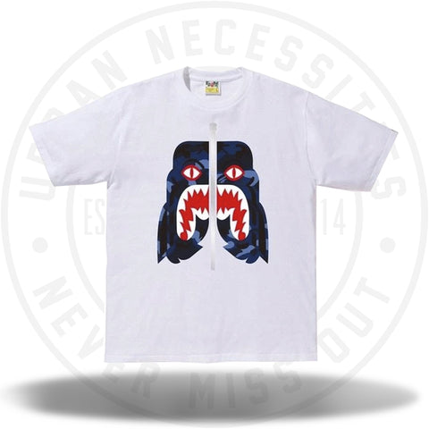 BAPE Color Camo Tiger Tee White/Blue-Urban Necessities