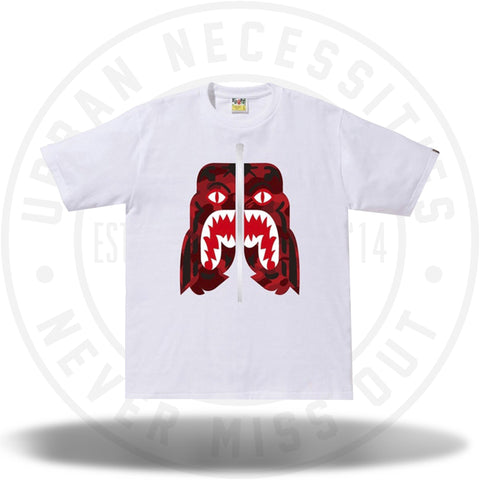 BAPE Color Camo Tiger Tee White/Red-Urban Necessities