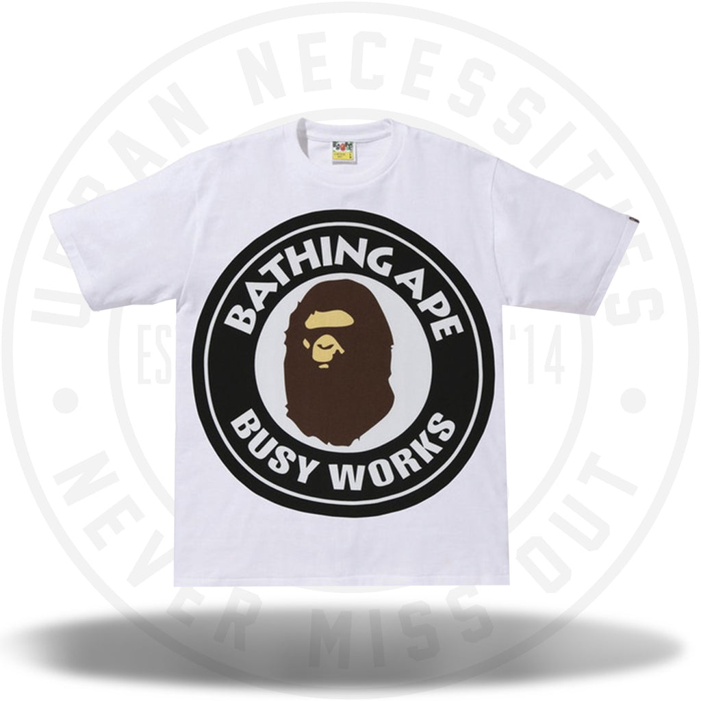 BAPE Colorful Pigment Busy Works Tee White/Black-Urban Necessities