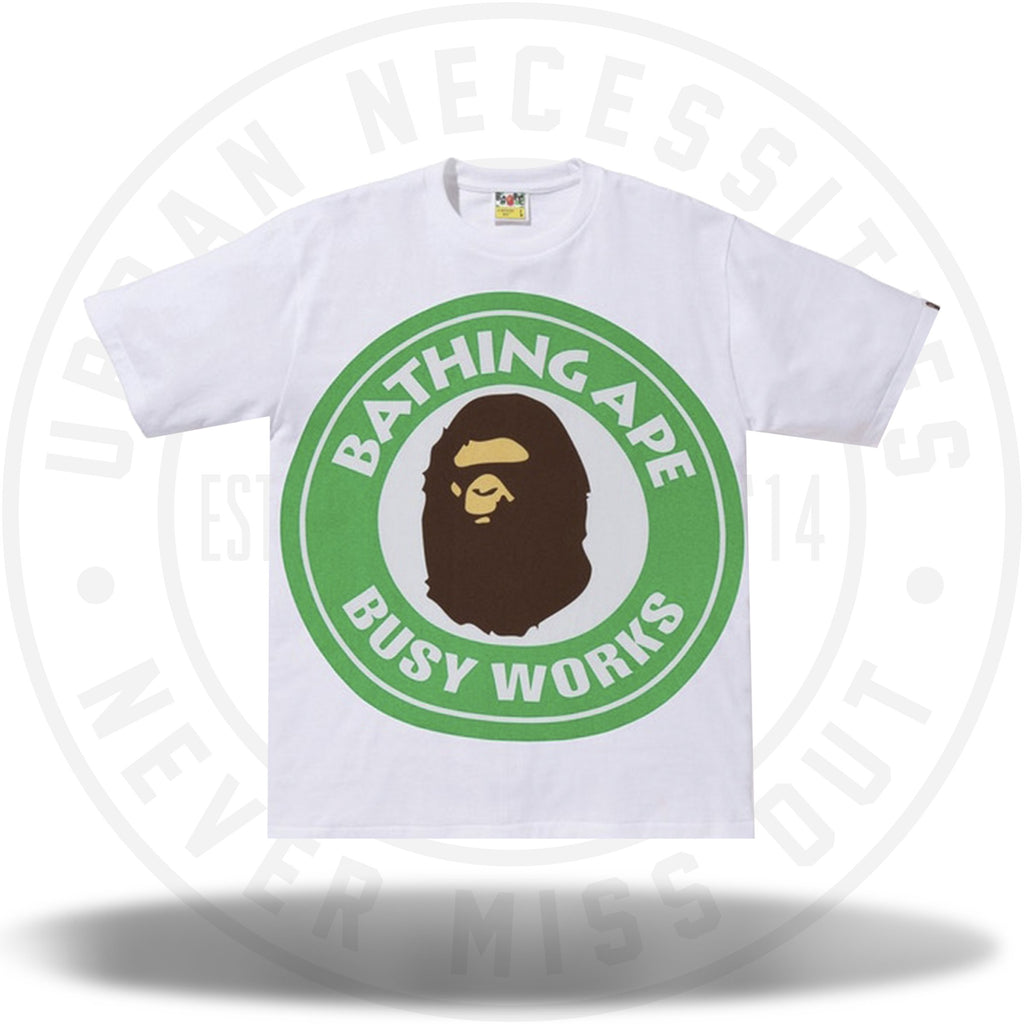 BAPE Colorful Pigment Busy Works Tee White/Green-Urban Necessities