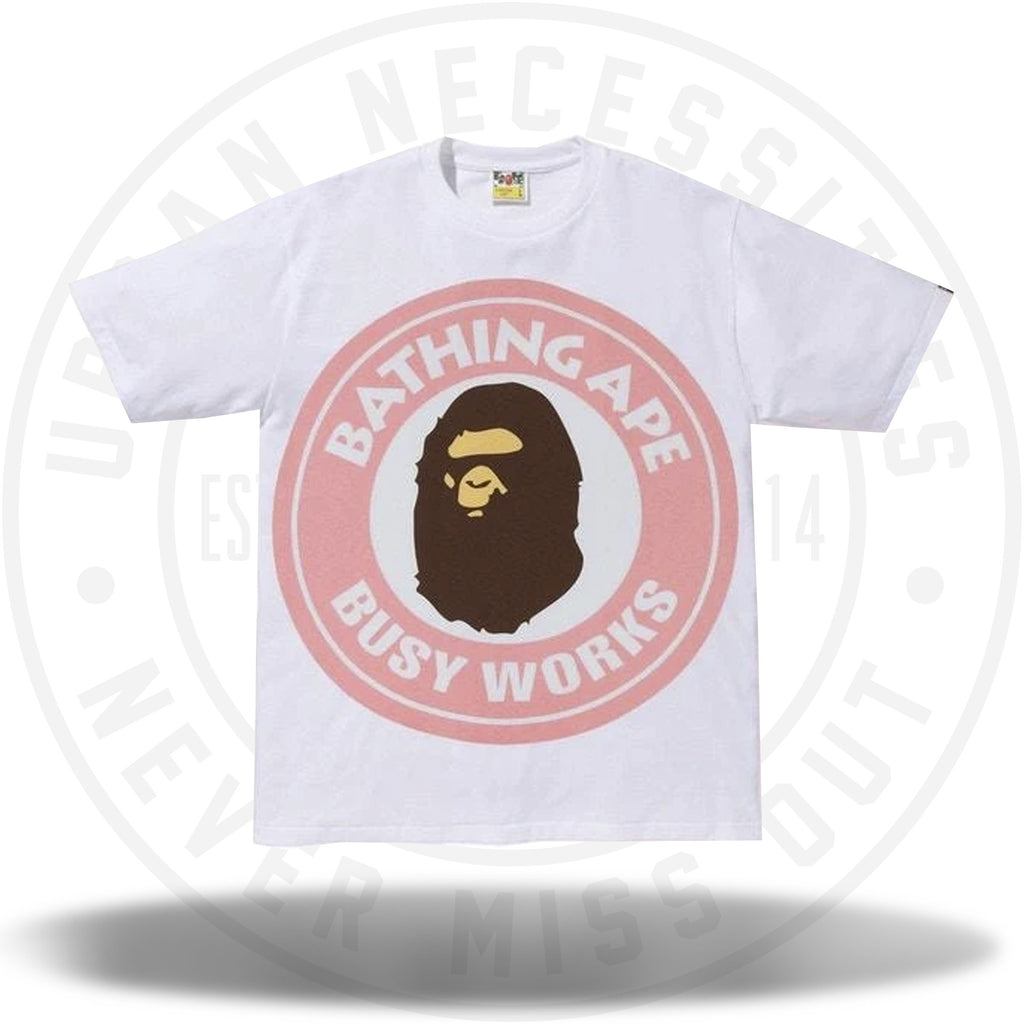 BAPE Colorful Pigment Busy Works Tee White/Pink-Urban Necessities