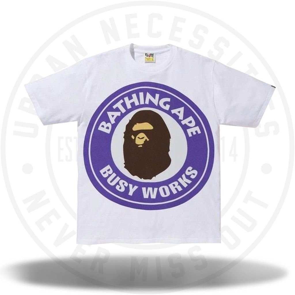 BAPE Colorful Pigment Busy Works Tee White/Purple-Urban Necessities
