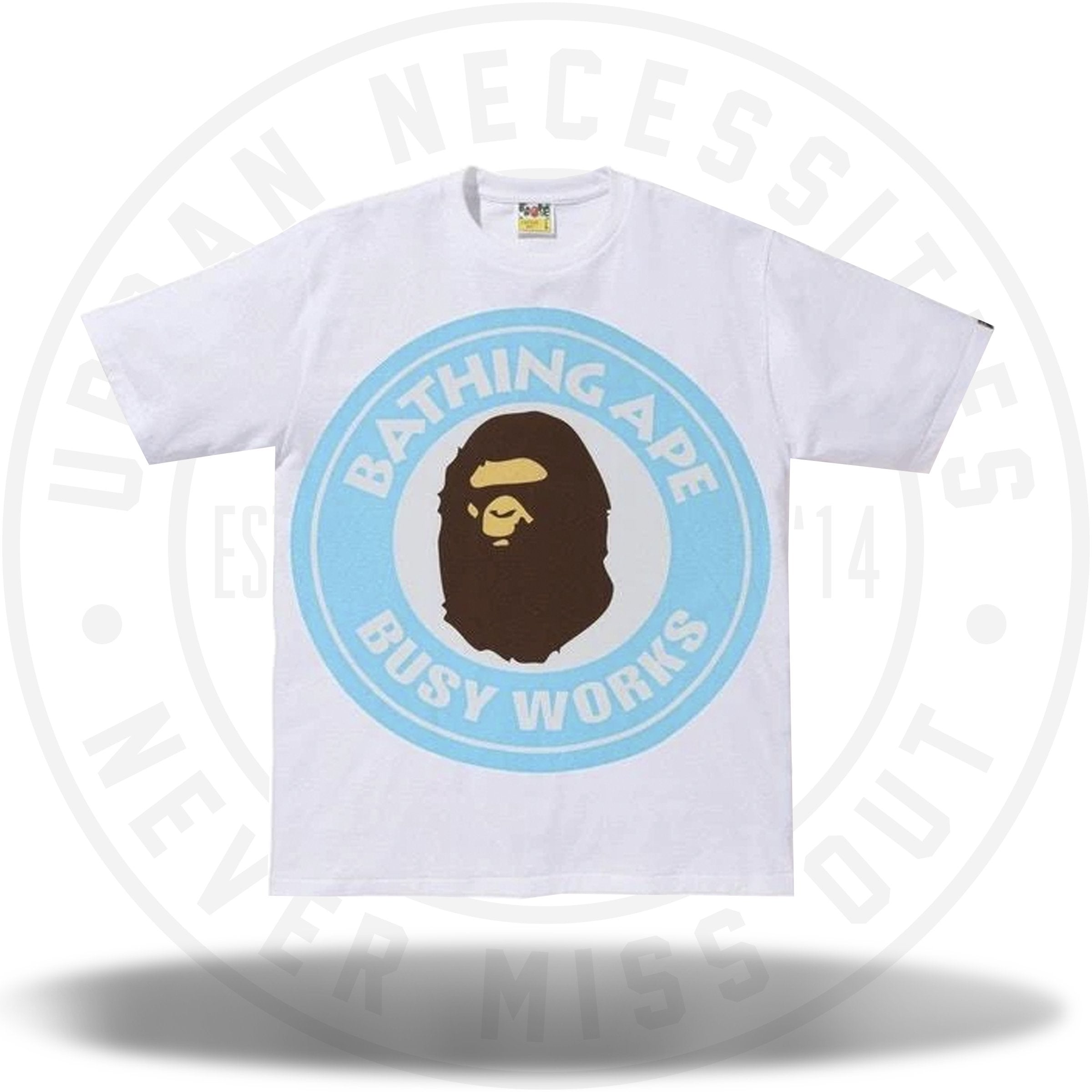 d1173852 BAPE Colorful Pigment Busy Works Tee White/Sax – Urban Necessities