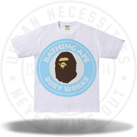BAPE Colorful Pigment Busy Works Tee White/Sax-Urban Necessities
