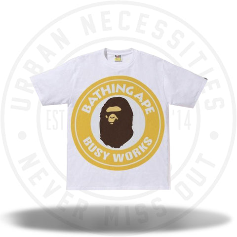 BAPE Colorful Pigment Busy Works Tee White/Yellow-Urban Necessities