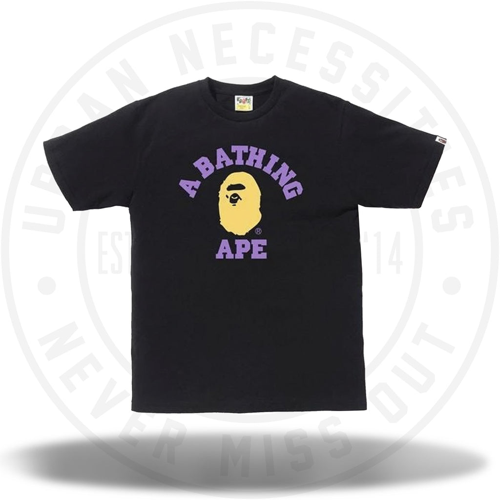BAPE Colors College Tee (SS19) Black-Urban Necessities