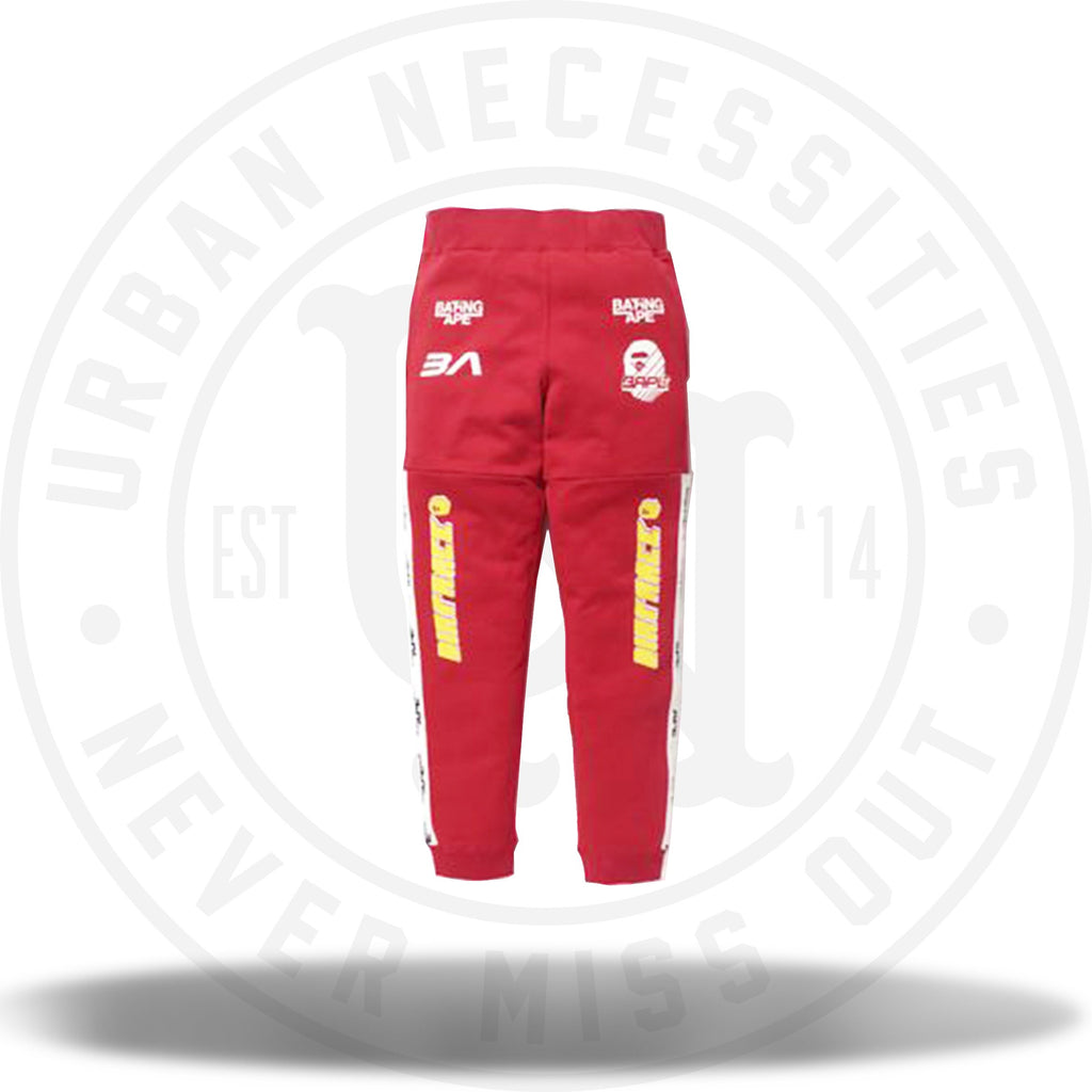 Bape Dirtrace Pants Red-Urban Necessities