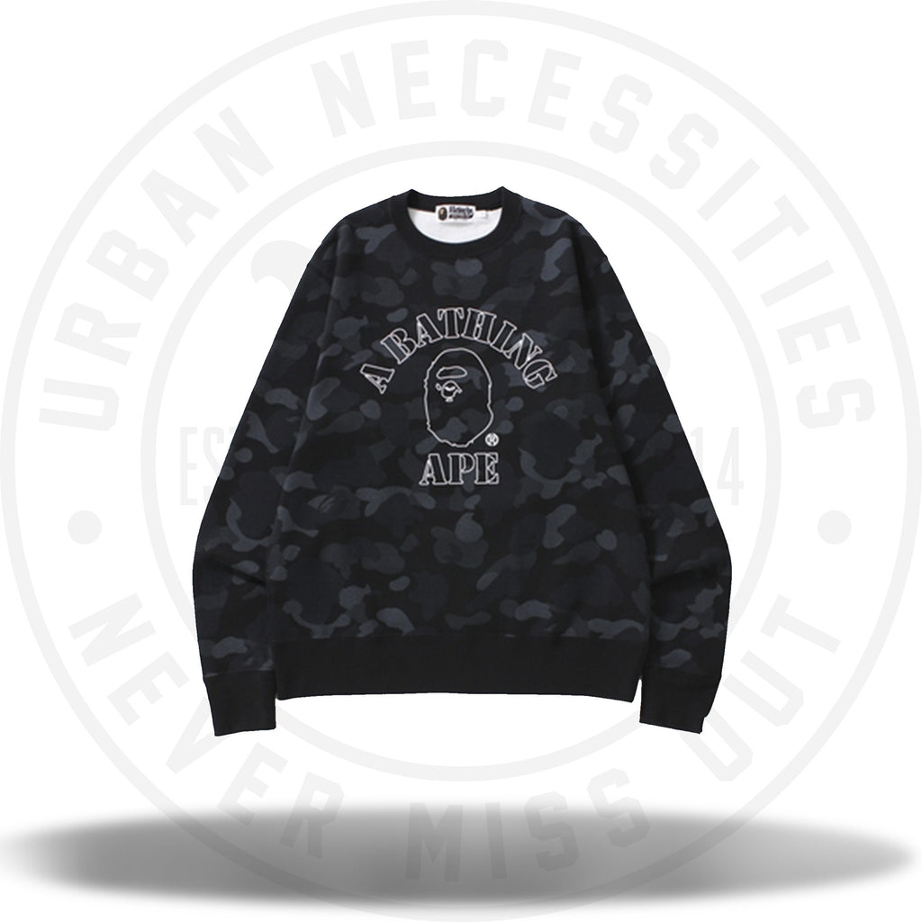 Bape Dot Camo Wide Crewneck Black-Urban Necessities