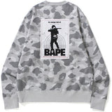 Bape Dot Camo Wide Crewneck Gray-Urban Necessities