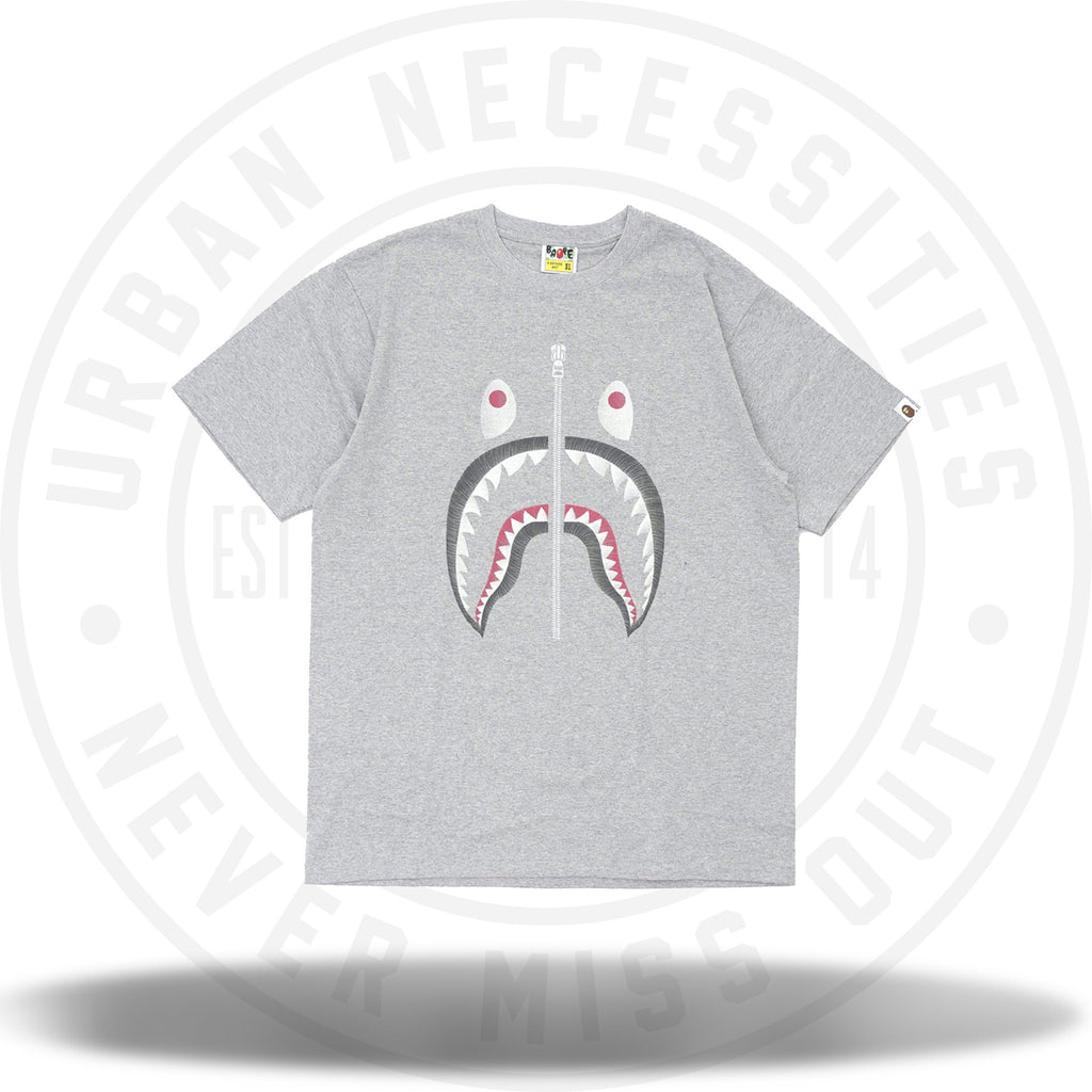 Bape Embroidery Style Shark Tee Grey-Urban Necessities