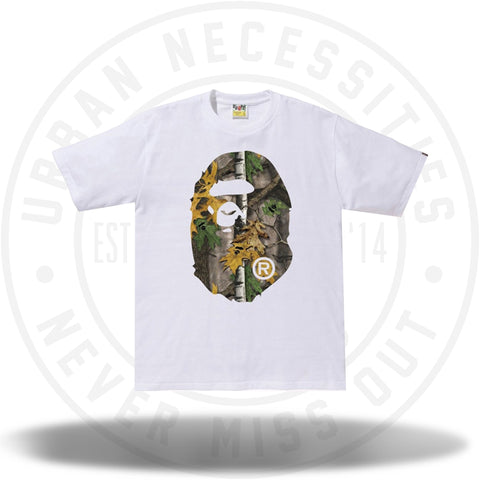 BAPE Forest Camo Big Ape Head Tee White/Beige-Urban Necessities