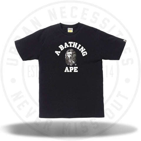 Bape Forest Camo College Tee Black/Black-Urban Necessities