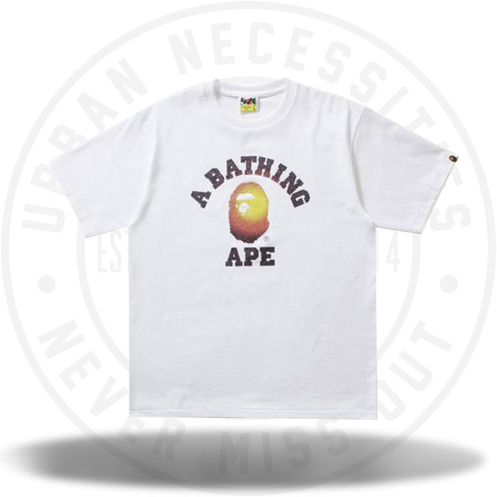 BAPE Glass Beads Gradation College Tee White/Red-Urban Necessities