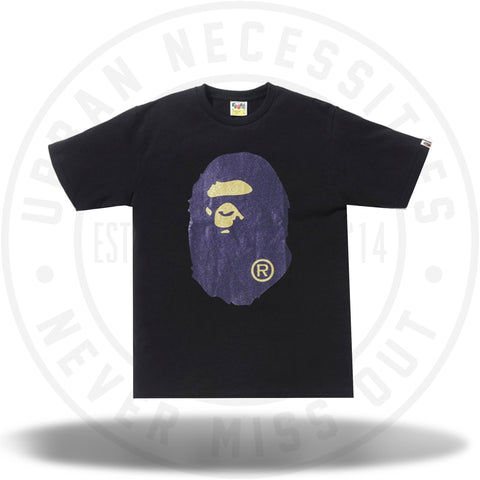 Bape Glitter Big Ape Head Tee Purple/Black-Urban Necessities