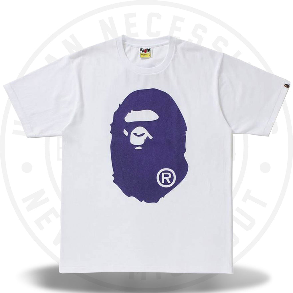 BAPE Glitter Big Ape Head Tee White/Purple-Urban Necessities