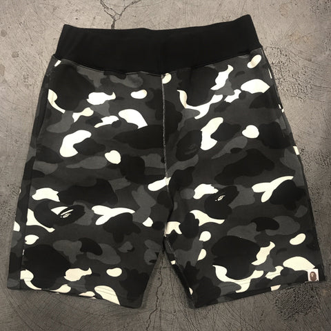 Bape Glow Camo Sweat Shorts Black-Urban Necessities