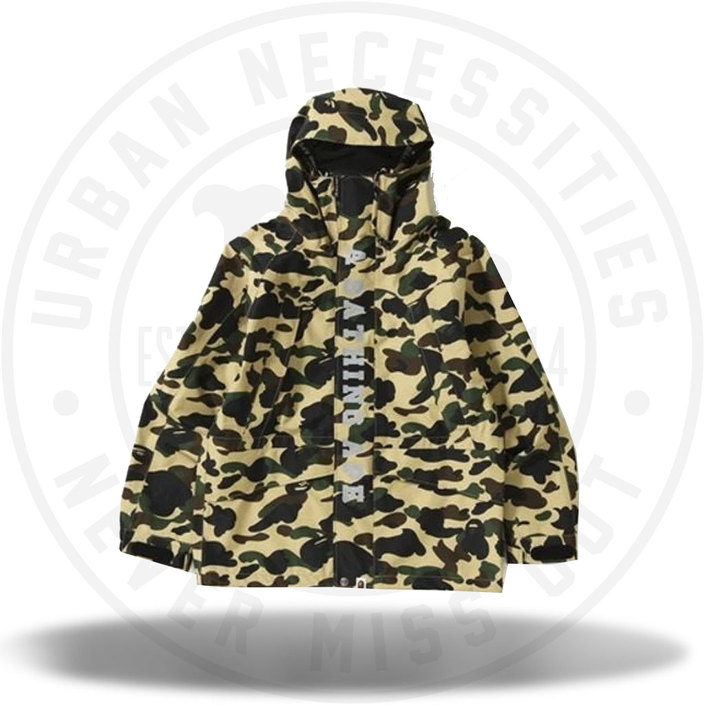 BAPE Gore-Tex 1st Camo Snowboard Jacket (FW18) Yellow-Urban Necessities