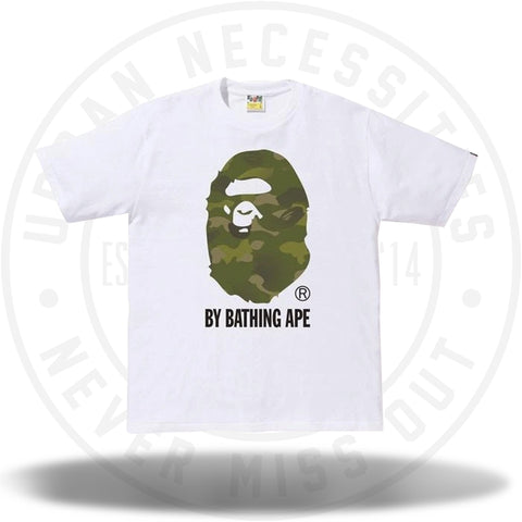 BAPE Gradation Camo By Bathing Tee White/Olivedrab-Urban Necessities