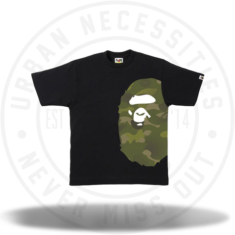 BAPE Gradation Camo Side Big Ape Head Tee Tee Black/Green-Urban Necessities