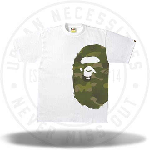 BAPE Gradation Camo Side Big Ape Head Tee Tee White/Green-Urban Necessities