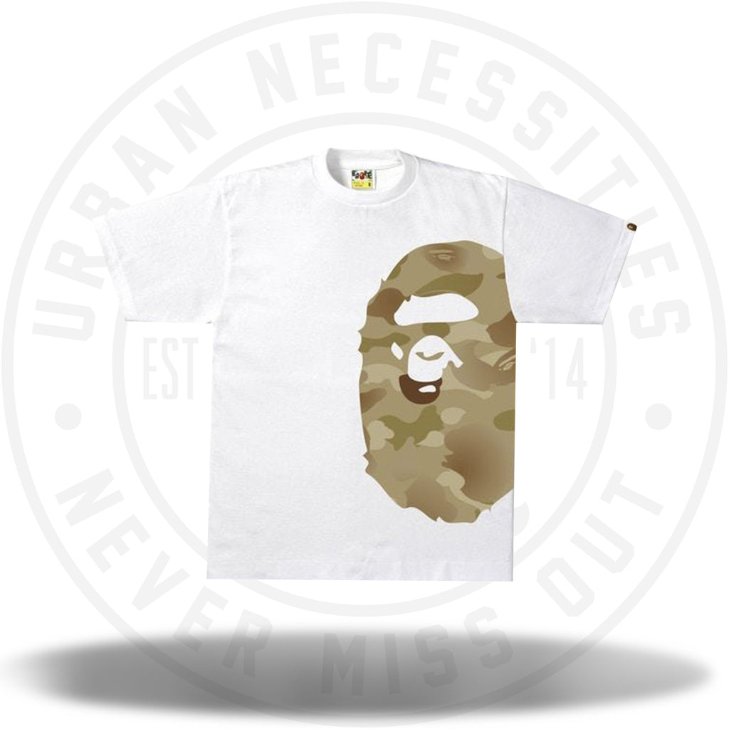 BAPE Gradation Camo Side Big Ape Head Tee Tee White/Tan-Urban Necessities