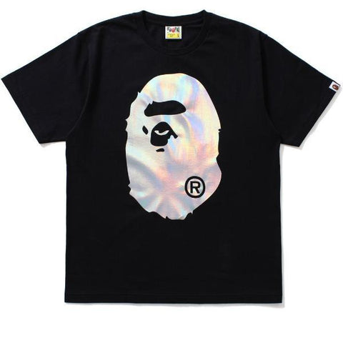 Bape Hologram Big Ape Head Tee Black-Urban Necessities