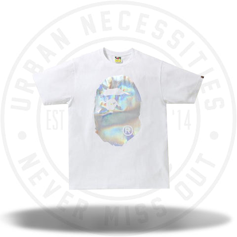 BAPE Hologram Big Ape Head Tee White-Urban Necessities