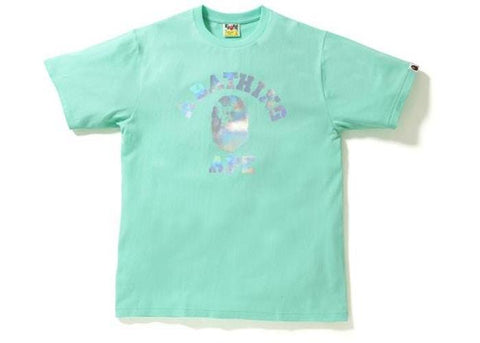 BAPE Hologram College Tee Green-Urban Necessities