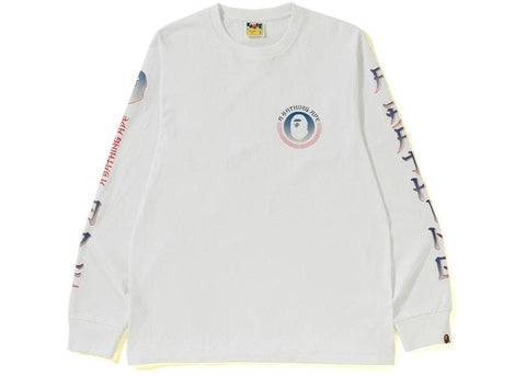 BAPE Master Long Sleeve Tee White-Urban Necessities
