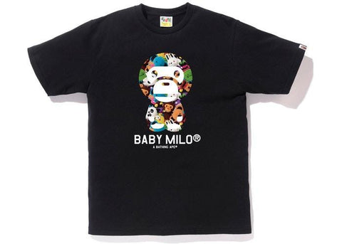BAPE Milo All Plush Doll Baby Milo Tee Black-Urban Necessities