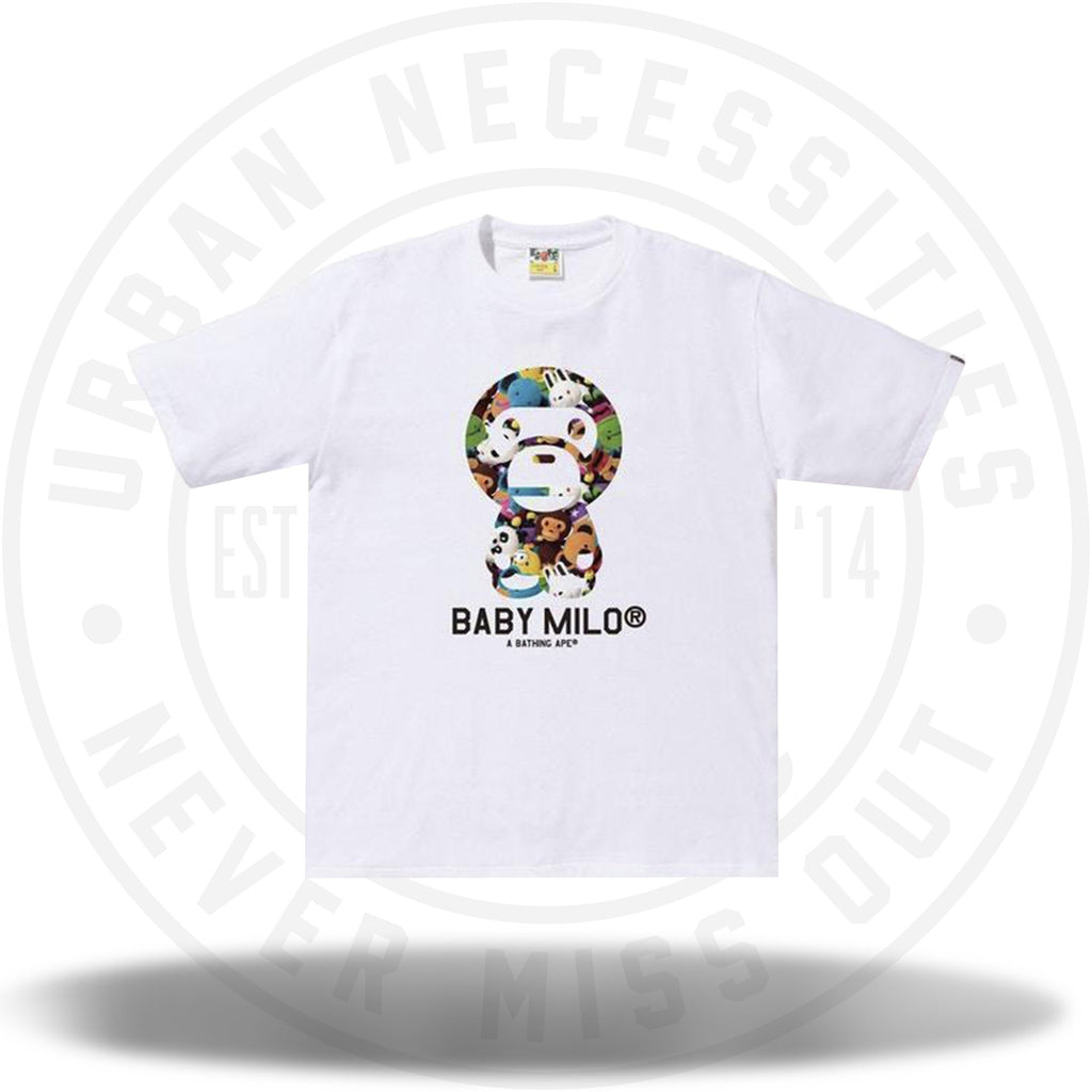 BAPE Milo All Plush Doll Baby Milo Tee White-Urban Necessities