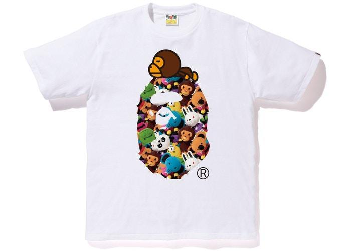 BAPE Milo All Plush Doll Milo on Ape Tee White-Urban Necessities