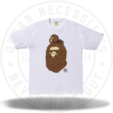 Bape Milo On Big Ape Tee White-Urban Necessities