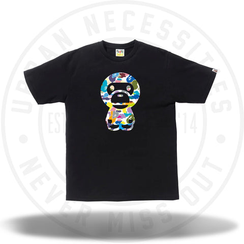 BAPE Multi Camo Big Baby Milo Tee (SS18) Black-Urban Necessities
