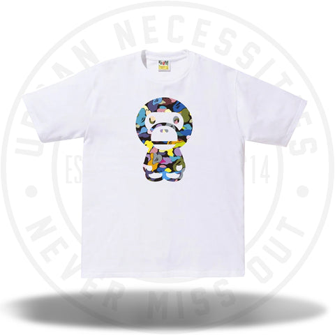 BAPE Multi Camo Big Baby Milo Tee (SS18) White-Urban Necessities